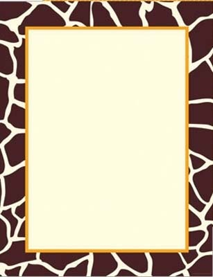 Giraffe Theme Paper